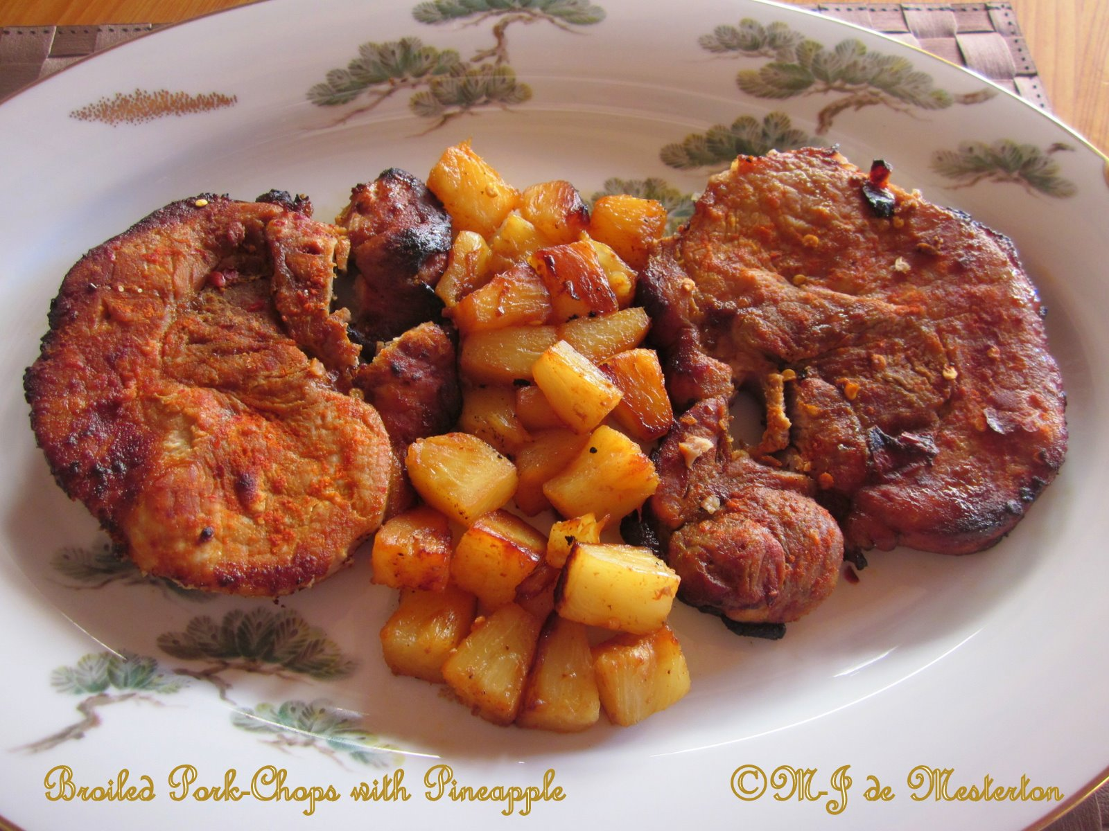 how to cook pork steak with pineapple