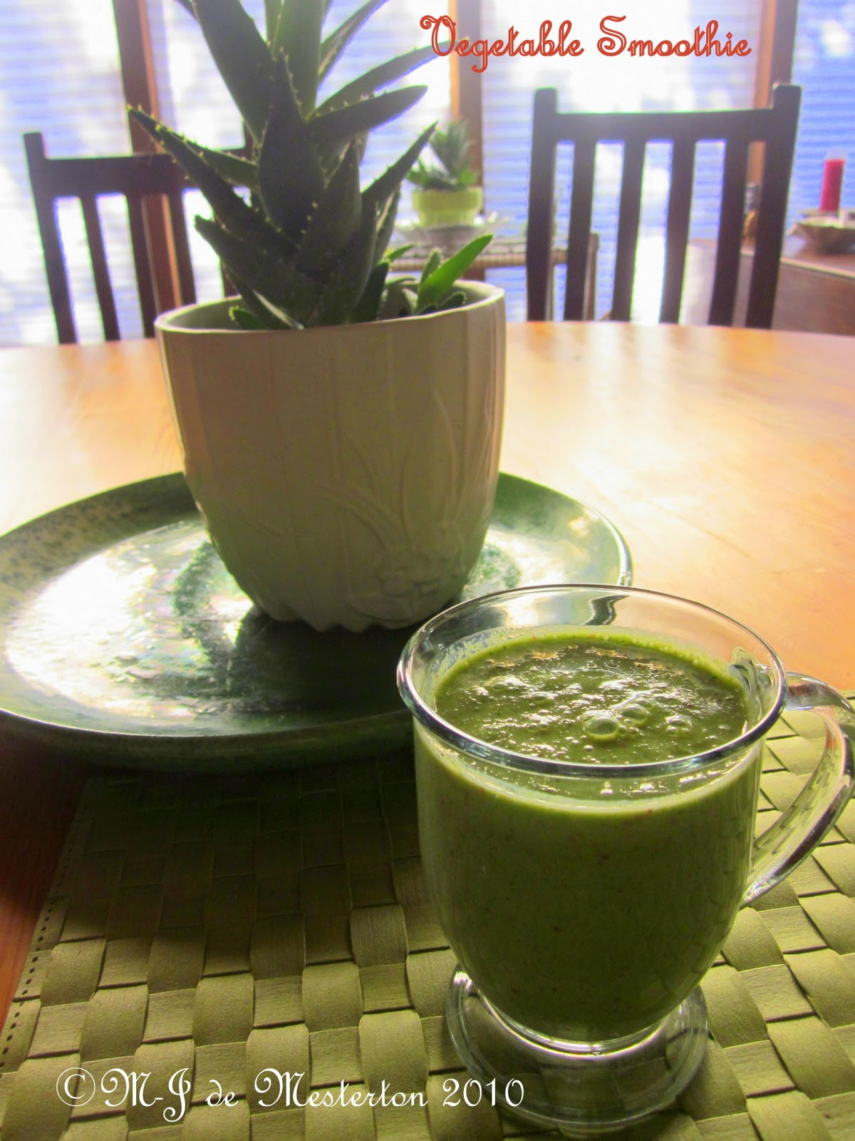 Elegant Green Smoothie for Winter Health