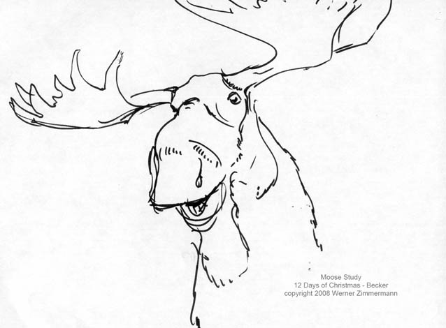 Pencil of moose sketch templates for How to draw a moos