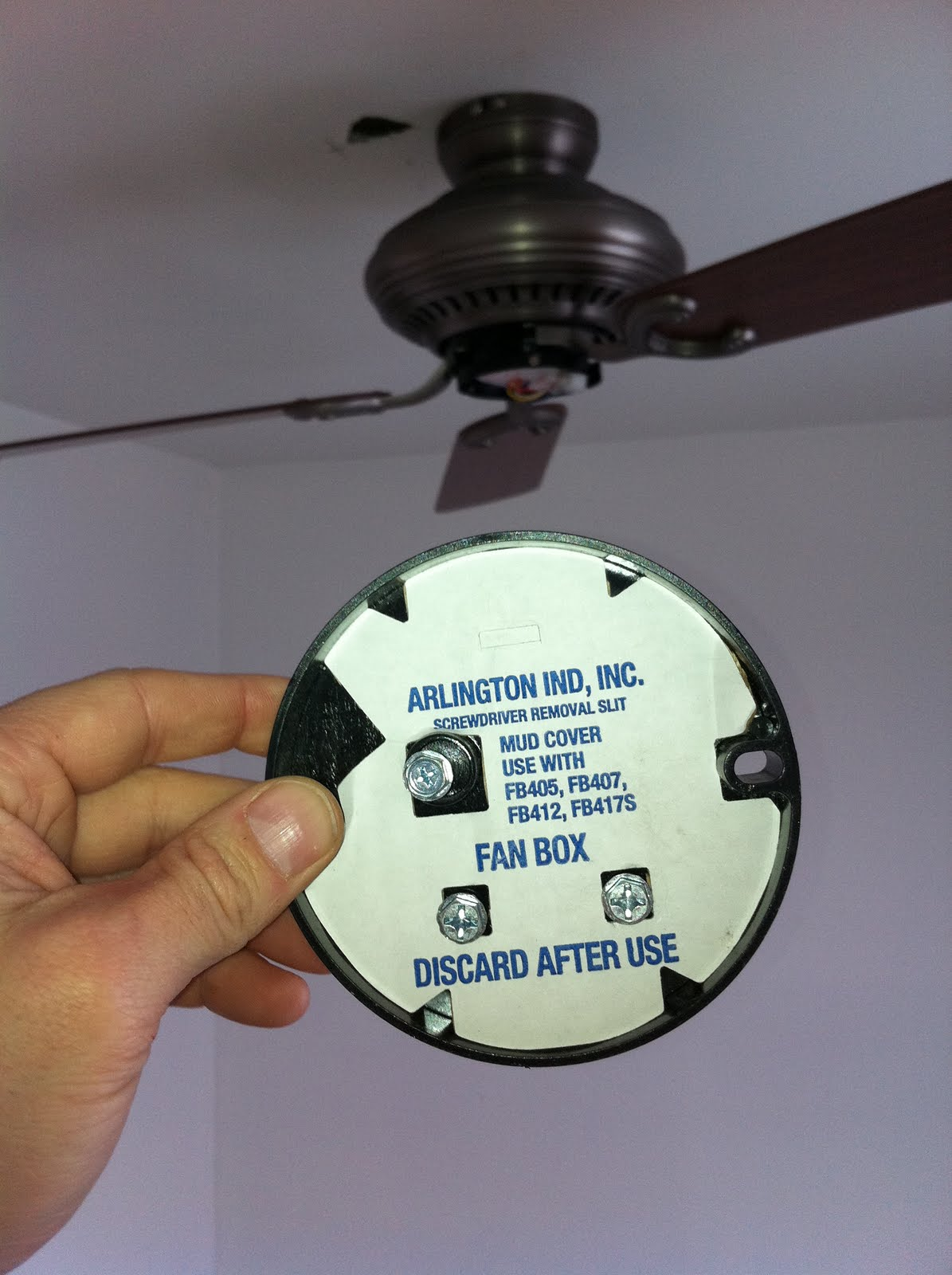 Ceiling Fan Electrical Boxes Approved : Gen electric  ceiling fans and the right box