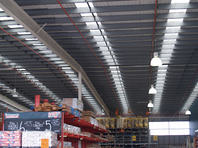 Dylan\'s Construction Blog: Bunnings Warehouse - Long Span Structures