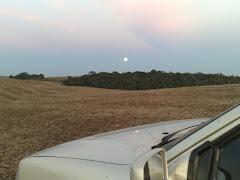 Nascer da lua...