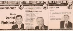 PUEBLO NUEVO: boleta de Intendente, Concejales y Juez de Paz de General Pico (2003)
