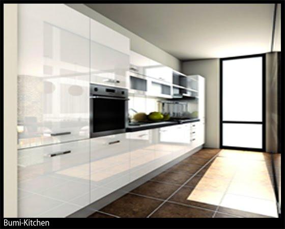 Bumi kitchen kitchen cabinet acrylic for Harga kitchen cabinet