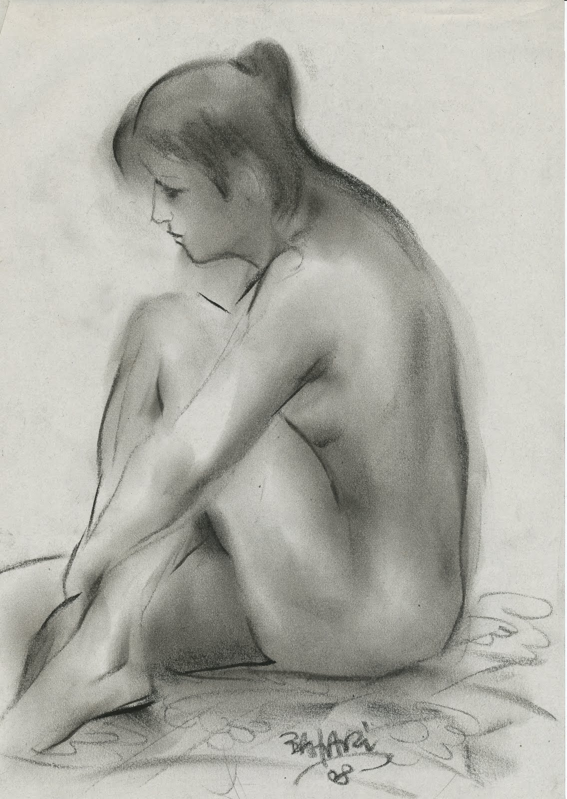 at the nude models however