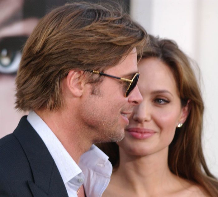 Brad Pitt Face Shape. angelina jolie and rad pitt