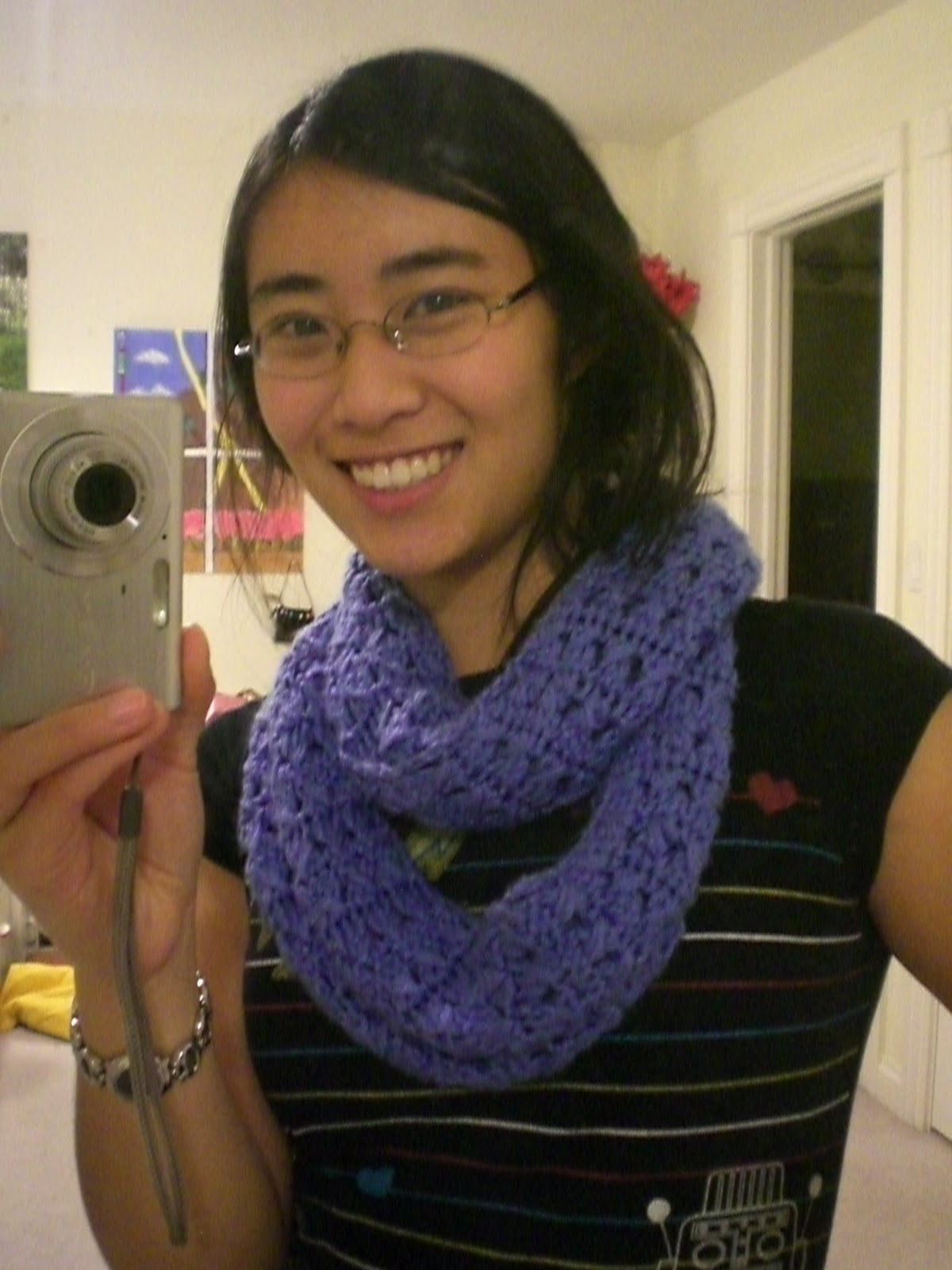 The Stingy Stitcher: Blue infinity scarf: A Forever 21 ...