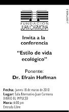 Fundación Juan Carmona, invita a la Conferencia: