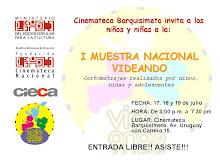 """I Muestra Nacional """"Videando"""" - Cortometrajes realizados por niños, niñas y adolescentes"""