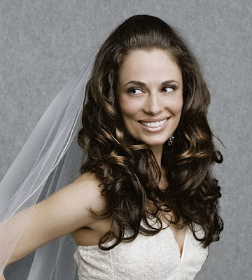 between an updo or wearing your hair down? Do both! wedding hairstyles