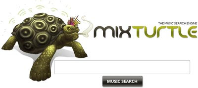 music search engine screenshot