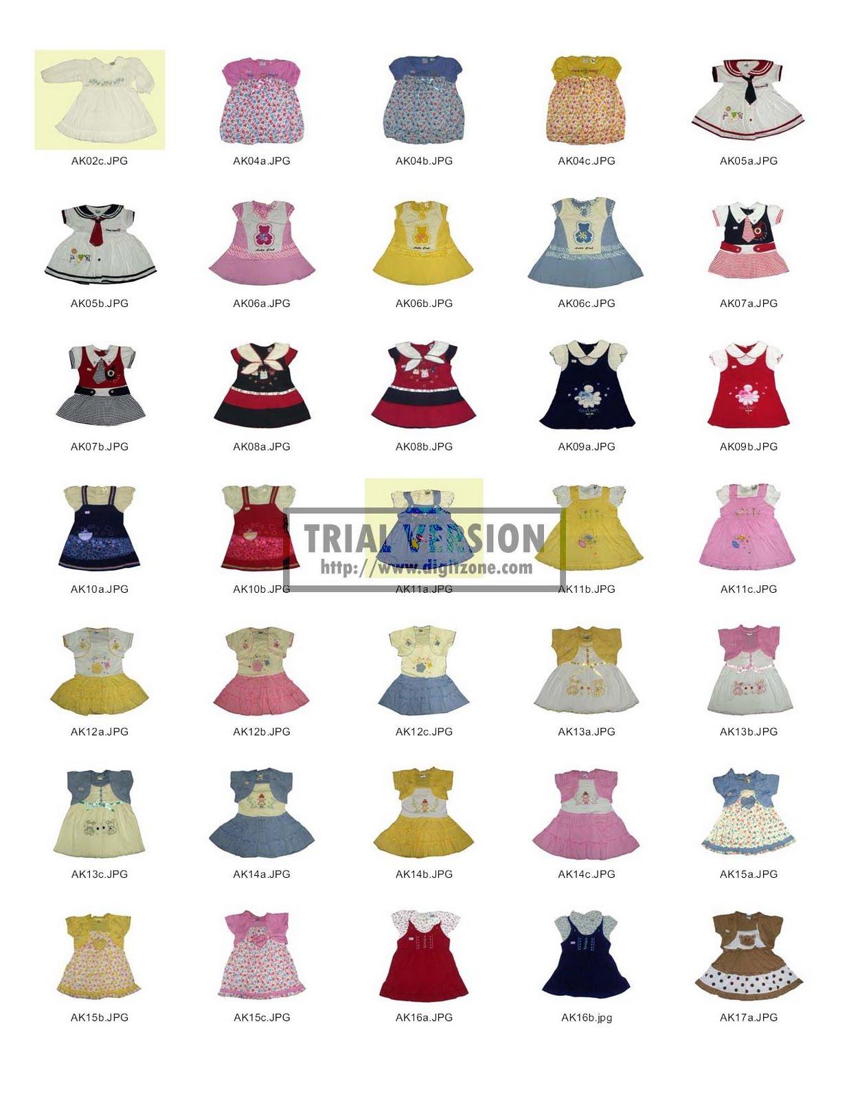 Aneka Baju Bayi dan Anak-Anak