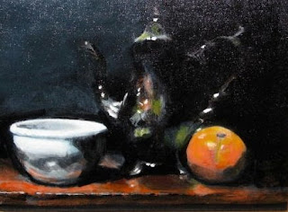 Acrylic painting of Teapot by Jim Demello