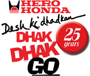 With cups of tea &... Hero Honda Logo Dhak Dhak Go