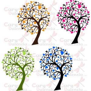 Cary valencia vinilo decorativo 4 rboles bicolor - Vinilos decorativos en valencia ...