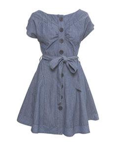 Warehouse denim dress as seen in LOOK - it's fashion, dahling!