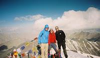 Lisi, Andr und Egli am Stok Kangri in 6120m