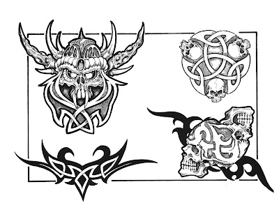 How to save this free tattoo design to your computer or print it: