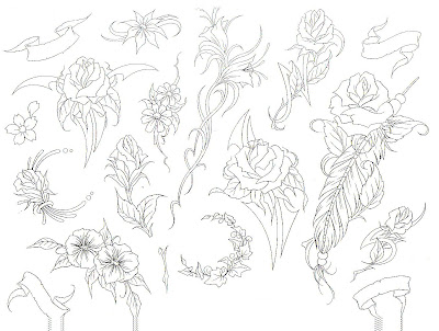Flower Tattoo Flash
