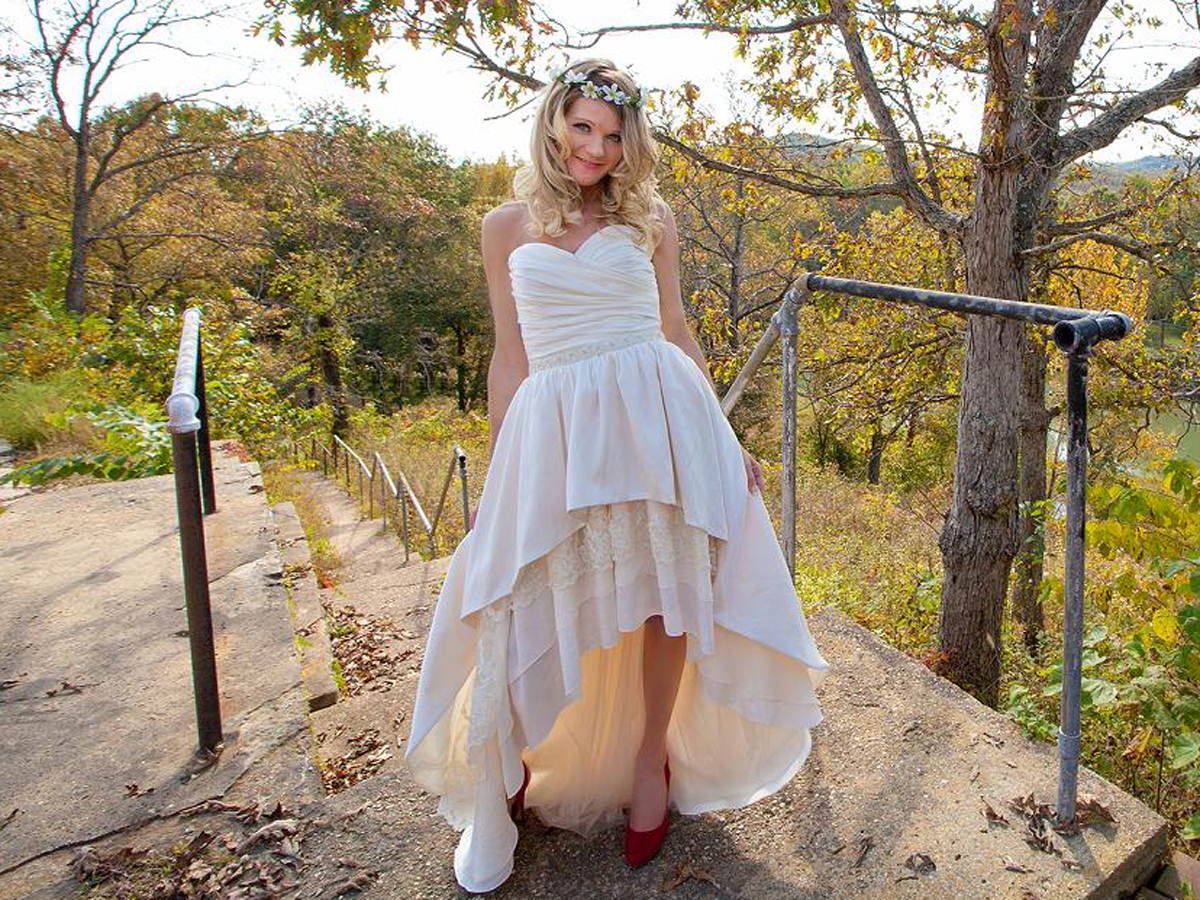 Country Wedding Dresses Short In Front Long In Back