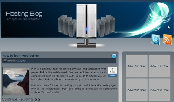 Free Web Hosting Blog Blue Wordpress Theme » SCRiPTMAFiA.ORG ...