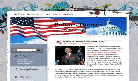 Free Wordpress USA Obama Magazine Theme