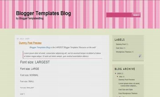 Free Blogger Template Cool Stripes Blog