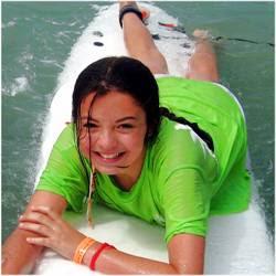 Fun in the ocean at Aloha Beach Camp Malibu