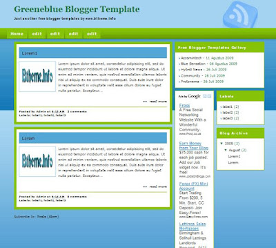 Greeneblue Blogger Templates