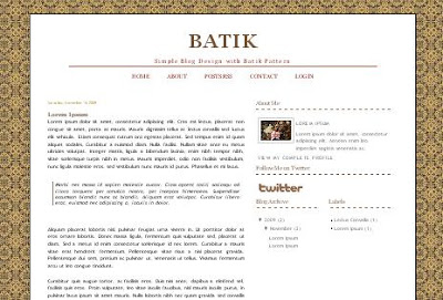 Batik Blogger Template