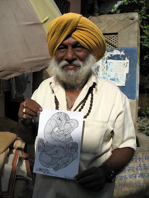 Kikasso, artista. Pushkar