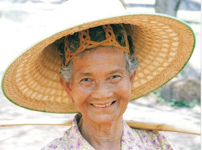 Rostro amigo en Sukhothai, Tailandia