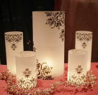 Do it yourself weddings diy table numbers and luminaries they are quite sturdy and self standing other options are also available you can also customize designs contact the illumienate shop on etsy solutioingenieria Image collections