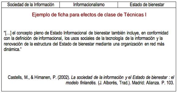 Ejemplo De Una Ficha Bibliografica