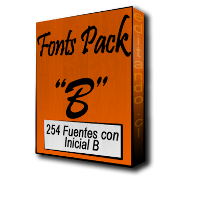 Fonts Pack with B
