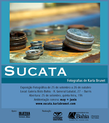 Convite para a exposição Sucata, da fotógrafa Karla Brunet