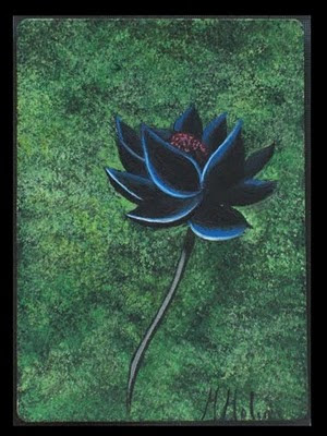 Black Lotus Magic the gathering altered art magic cards mtg card artwork power 9 altered cards Marta Molina magic the gathering black lotus