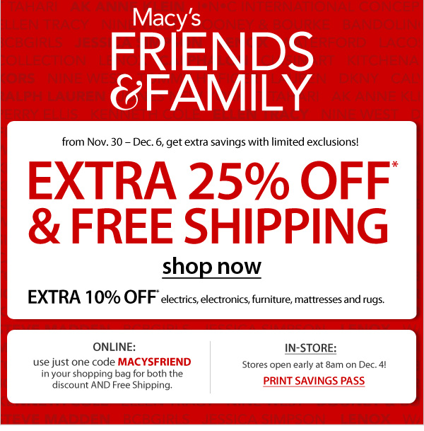 Alicias Deals in AZ – 25% Off at Macy's…Online and In Stores!