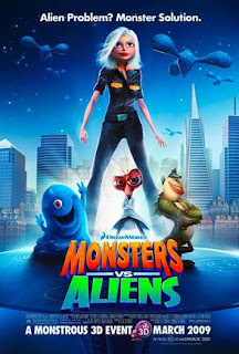 Asperger's, autism, crowds, noise sensitivity, outings, sensory integration disorder, sensory issues, movie reviews, sensory friendly films, Monsters vs Aliens, Autism Society of America, AMC theaters
