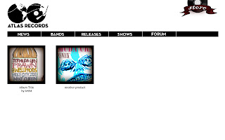 Atlas Records Store Page Preview