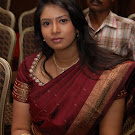 Sangavi in Brown Silk Saree Photos