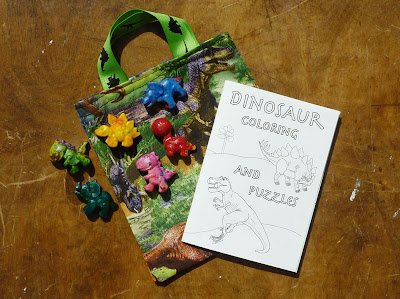 dinosaur party bag coloring book and crayons