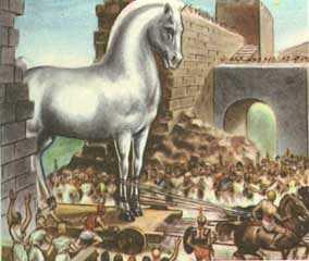 el caballo de troya fue obra de un maestro del engano ulises despues ...