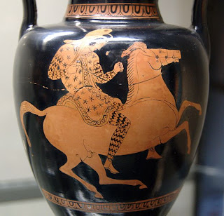 Amazon Warrior on Horseback - Grecian Urn