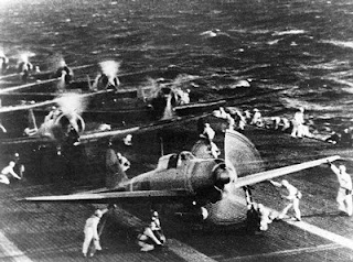 Zeros prepare to leave the Japanese Carrier Shokaku
