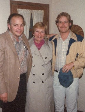 A much thinner benning with his Folks in 1980