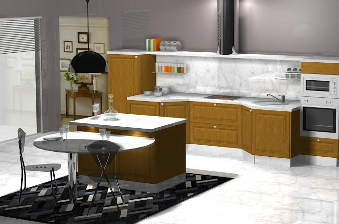 Diseño de cocina en roble
