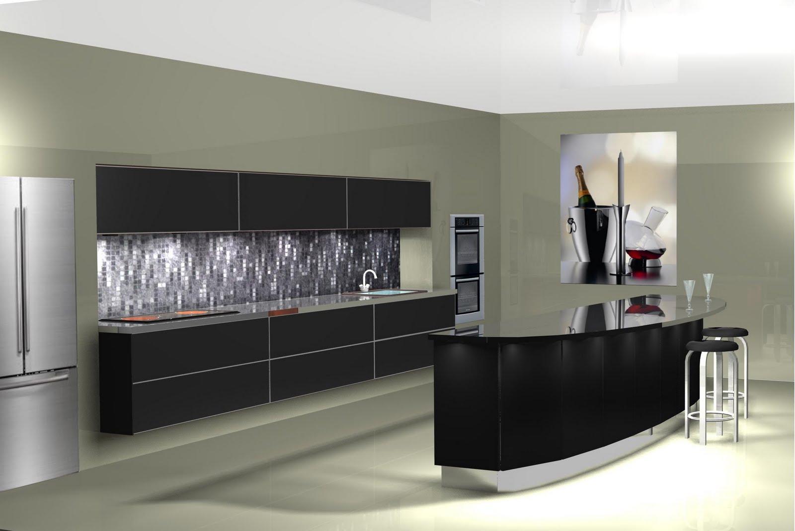 Dise o muebles de cocina dise o de cocina con barra de - Muebles de cafeteria ...