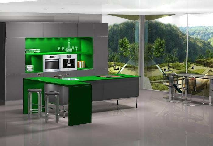 Diseño de cocina con vistas de vertigo.