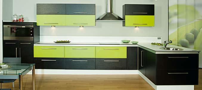 Cocina con silestone verde decorar tu casa es for Cocina verde pistacho